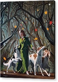 Les Feuilles Mortes Acrylic Print by Jo King