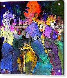 Les Filles Du Cafe De La Nuit Acrylic Print by Miki De Goodaboom
