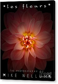 Les Fleurs Coffee Table Book Cover Acrylic Print