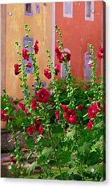 Les Fleurs Rouge Acrylic Print