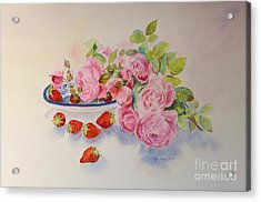 Acrylic Print featuring the painting Les Fruits De L'ete by Beatrice Cloake