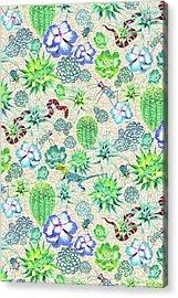 Les Jardins Majorelle  Succulents Acrylic Print