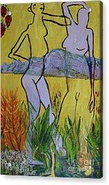 Les Nymphs D'aureille Acrylic Print by Paul McKey