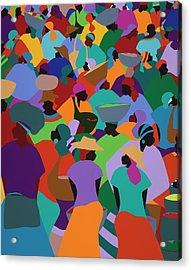 Les Palmes Market Haiti Acrylic Print