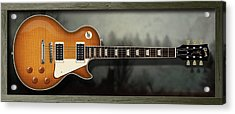 Les Paul Box Acrylic Print by WB Johnston