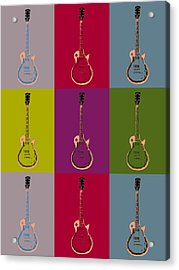 Les Paul Colorful Poster Acrylic Print by Dan Sproul