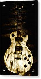 Les Paul Guitar Acrylic Print by Bill Cannon