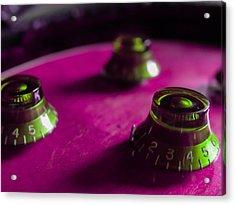 Guitar Controls Series Pink And Green Acrylic Print