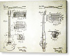 Les Paul Guitar Patent 1955 Acrylic Print by Bill Cannon