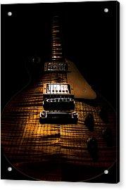Burst Top Guitar Spotlight Series Acrylic Print