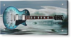 Les Paul Ice Acrylic Print