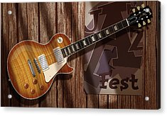 Les Paul Jazzfest Acrylic Print by WB Johnston