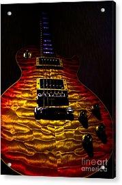 Guitar Custom Quilt Top Spotlight Series Acrylic Print