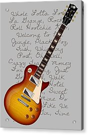 Les Paul Songs T-shirt Acrylic Print