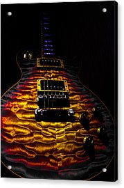 Tri-burst Quilt Top Guitar Spotlight Series Acrylic Print