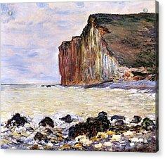 Les Petites Dalles Acrylic Print by Claude Monet