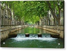 Les Quais De La Fontaine Acrylic Print