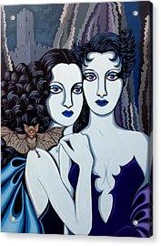 Les Vamperes Bleu Acrylic Print