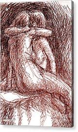Lesbian Sketches 1b Acrylic Print