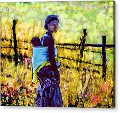 Lesotho Woman Acrylic Print