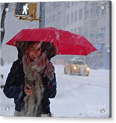 L Esprit De New York - Winter In New York Acrylic Print
