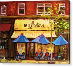 Lesters Cafe Acrylic Print