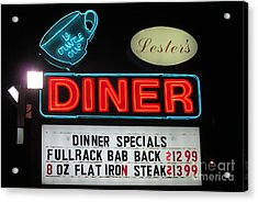 Lesters Diner Acrylic Print