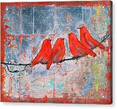 Let It Be, Four Birds  Acrylic Print