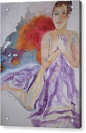 Acrylic Print featuring the painting Let It Burn by Beverley Harper Tinsley