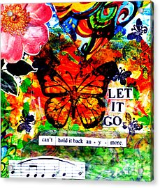 Acrylic Print featuring the mixed media Let It Go by Genevieve Esson