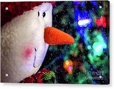 Let It Snow Acrylic Print by Elijah Knight