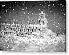 Let It Snow Acrylic Print by Jackie Novak