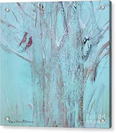 Acrylic Print featuring the painting Let It Snow by Robin Maria Pedrero