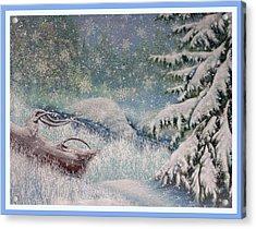 Let It Snow Acrylic Print