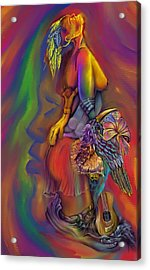 Acrylic Print featuring the digital art Let Me Go Wip by Karen Musick