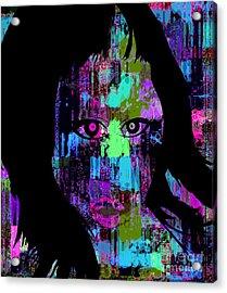 Let My Eyes Speak For Me Acrylic Print by Fania Simon