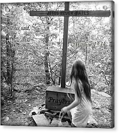 Let The Children Come To Me ... Matthew Nine Fourteen Acrylic Print by Angelica -Gel Studios