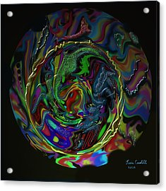 Acrylic Print featuring the painting Let The Good Times Roll by Kevin Caudill