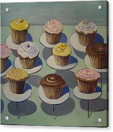 Let Them Eat Cupcakes Acrylic Print by Yvonne Dagger