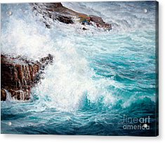 Let There Be Waves Acrylic Print by Candace D Fenander