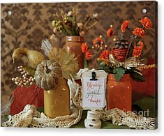 Let Us Give Thanks Acrylic Print by A New Focus Photography