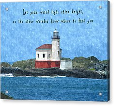 Let Your Weird Light Shine Bright Acrylic Print