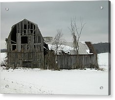 Letchworth Barn 0077b Acrylic Print by Guy Whiteley