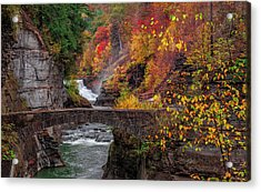 Letchworth Lower Falls Acrylic Print