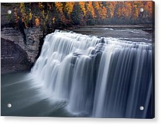 Acrylic Print featuring the photograph Letchworth Middle Falls II by Timothy McIntyre