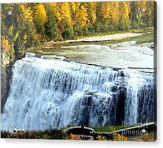 Letchworth State Park Middle Falls Autumn Acrylic Print