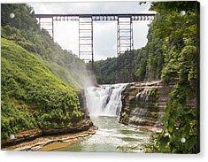 Letchworth Upper Falls Acrylic Print