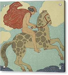 L'etranger Acrylic Print by Georges Barbier