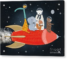 Lets All Go To The Moon Acrylic Print