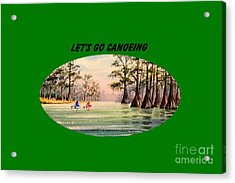 Acrylic Print featuring the painting Let's Go Canoeing by Bill Holkham